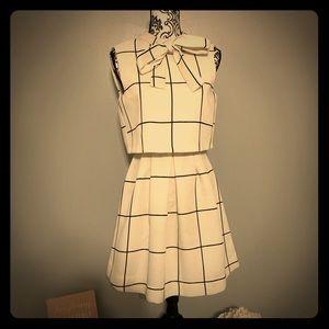 GRACIA  Windowpane Dress Small
